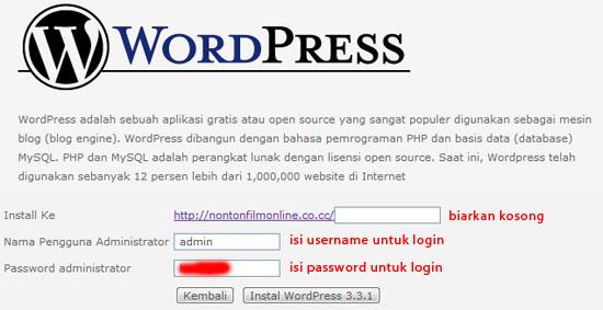 cara install wordpress idhostinger